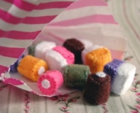 Dolly Mixtures Set Of 10 Recycled Felt Food Sculpture Fivegomad