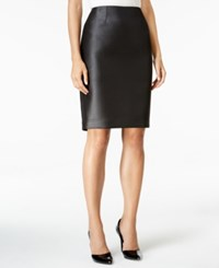 Kasper Dot Jacquard Pencil Skirt Black