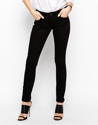 Asos Whitby Low Rise Skinny Jeans In Clean Black