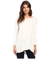 Culture Phit Eliana 3 4 Sleeve Drape Top Off White Women's Clothing