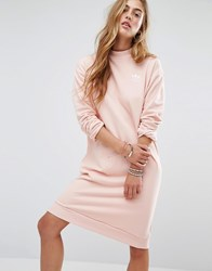 Adidas Originals Sweat Dress In Pale Pink Vapour Pink