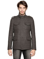 Etro Wool Jacquard Military Coat