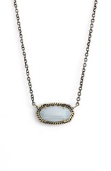 Kendra Scott Women's 'Elisa' Pendant Necklace White Agate Antique Brass