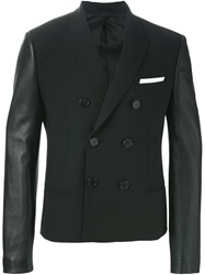 Neil Barrett Contrast Sleeves Blazer Black