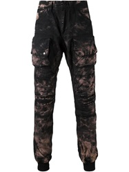 Prps Tie Dye Cargo Trousers Black