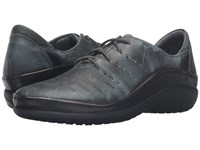 Naot Footwear Kumara Vintage Smoke Leather Black Raven Leather Women's Lace Up Casual Shoes