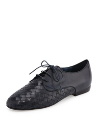 Naxos Woven Leather Oxford Navy Sesto Meucci