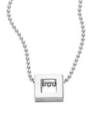 Alex Woo Elements Square Sterling Silver Pendant Necklace