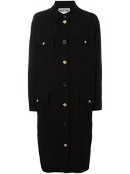 Moschino Vintage Belted Shirt Dress Black