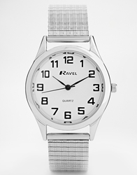 Reclaimed Vintage Silver Stainless Steel Watch
