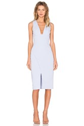 Keepsake Enough Space Midi Dress Baby Blue
