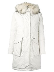 Woolrich 'W's Military' Parka Coat White