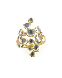 Moonstone And White Diamond Bubble Cluster Ring Paul Morelli