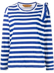 Golden Goose Deluxe Brand Striped Longsleeved T Shirt Blue