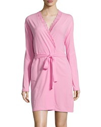 Cosabella Never Say Never Lace Trim Short Wrap Robe Lotus