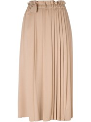No21 Long Pleated Skirt Nude And Neutrals