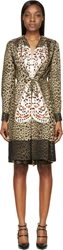 Givenchy Leopard Print Silk Butterfly Embroidered Dress