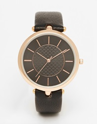 New Look Oversized Clean Watch Black