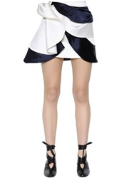 J.W.Anderson Layered Draped Silk Satin Mini Skirt