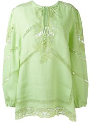 Ermanno Scervino Lace Detailing Long Blouse Green