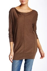 Bobi Cowl Neck Long Sleeve Sweater Brown