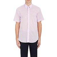 Barneys New York Men's Voile Short Sleeve Shirt Light Purple