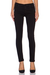 J Brand Mid Rise Super Skinny Seriously Black