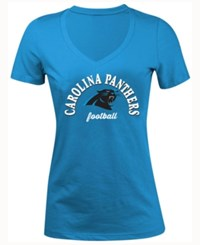 5Th And Ocean Women's Carolina Panthers Checkdown Le T Shirt Blue
