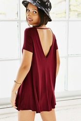 Kimchi And Blue Kimchi Blue Behind Your Back A Line Tunic Top Maroon