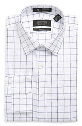 Men's Nordstrom Men's Shop Smartcare Trim Fit Check Dress Shirt Lavender Spray