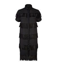 Prism Fringed Tunic Shirt Female Black