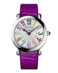 Ladies Color Dreams Ronde Watch With Alligator Strap Franck Muller Silver