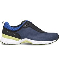 Hugo Boss G Velocity Patterned Woven Trainers Navy