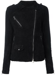 Giorgio Brato Zip Up Biker Jacket Black