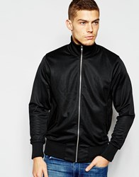 Fred Perry Laurel Wreath Track Harrington Jacket Black