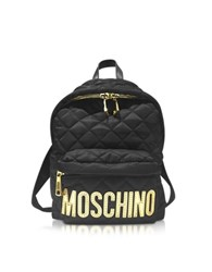 Moschino Black Quilted Nylon Backpack
