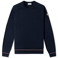 Moncler Tipped Crew Knit Blue
