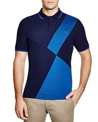 Fred Perry Tipped Color Block Pique Slim Fit Polo