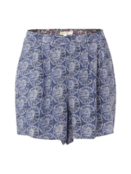 White Stuff Pretty Printed Skirt Short Blue