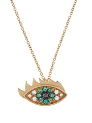 Delfina Delettrez Diamonds Emerald And Gold Eye Necklace