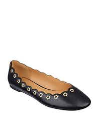 Nine West Mint Chip Grommet Flats Black