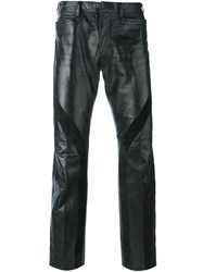 Jean Paul Gaultier Vintage Leather Trousers Black