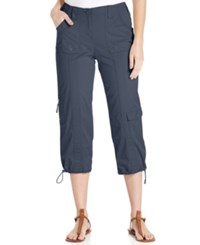 Styleandco. Style And Co. Cargo Capri Pants Uniform Blue