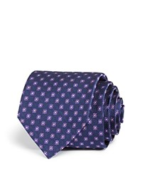 Bloomingdale's The Men's Store At Mini Flower Neat Classic Tie Navy Lavender