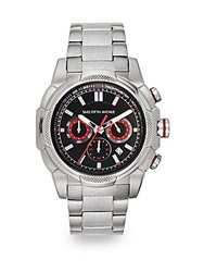 Saks Fifth Avenue Stainless Steel Chronograph Link Watch Silver