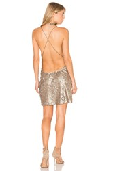 Motel Purpura Dress Metallic Bronze