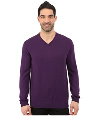 Robert Graham Newcastle V Neck Sweater Blackberry Men's Sweater Burgundy
