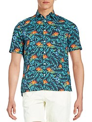 J. Lindeberg Regular Fit Warden Hawaii Sportshirt Dark Navy