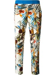 I'm Isola Marras Floral Print Cropped Trousers Multicolour