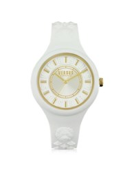 Versace Versus Fire Island Silicon And Gold Tone Stainless Steel Women's Watch